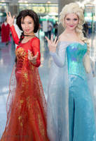 Fire and Ice Elsa by cindyrellacosplay