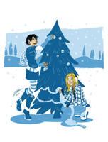 Decorating the tree by VanessaSatone