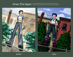 Draw this again: On the fence by VanessaSatone