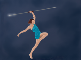 Spear throwing by Baroni-BABe