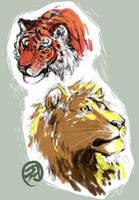 felines by tiggerfactory