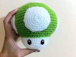 Big green mushroom by AmiAmaLilium