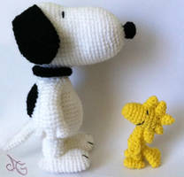 Snoopy and Woodstock by AmiAmaLilium