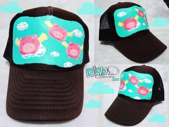 Cuando los cerdos vuelen gorra by digo-personaliza