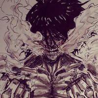 shingeki no kyojin (attack on titan) by artdan24