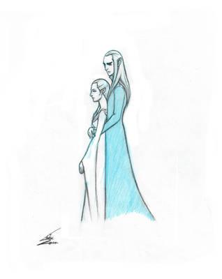 Thranduil's Love by halrod