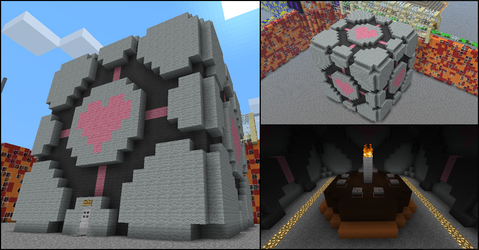 Companion Cube in Minecraft by Terror-Inferno