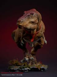 Tyrannosaurus Rex 1:15 scale model by nwfonseca