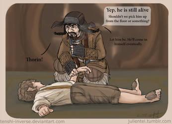 Poor little Bilbo by Tenshi-Inverse