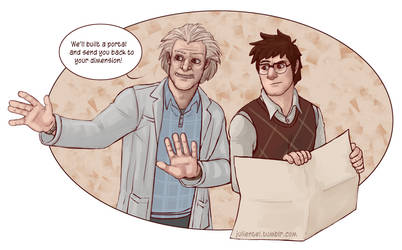 Doc Brown and Doc Pines by Tenshi-Inverse
