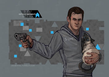 Android!Gavin loves cats by Tenshi-Inverse