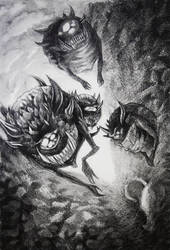 Cacodemons   Doom by NotoriousNoire