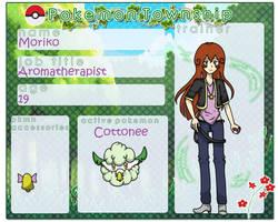 Pokemon Township  Trainer Sheet Moriko by Lovely-Lady-Natsumi