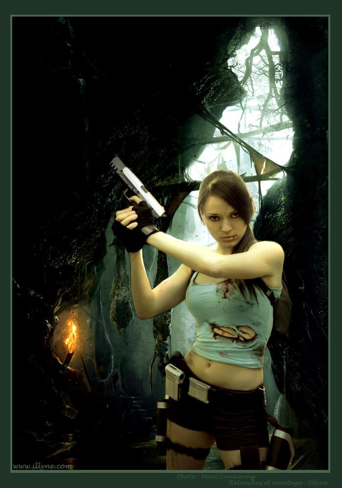 Lara Croft photomanipulation by illyne