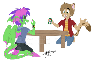[COMM] Tony and Cinda Hanging Out by NeroStreet