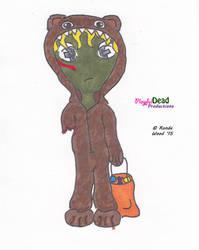ZombDoodle Trick R Treat Bear by PlayfulDead