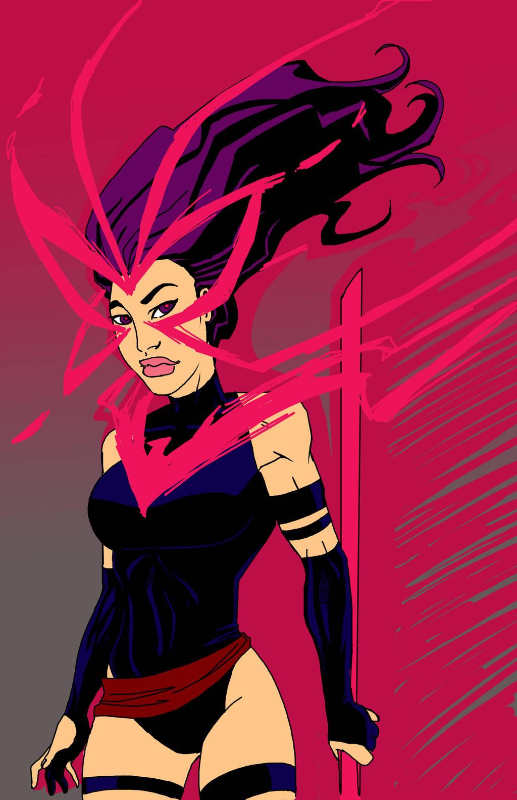 Psylocke Phoenix by Superfluous-Lore