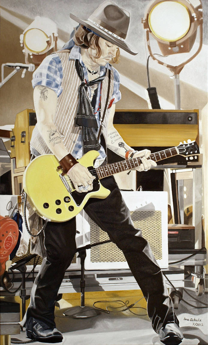 Johnny Depp - Guitar Hero by shaman-art