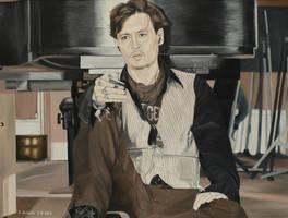 Johnny Depp - Queenie Eye by shaman-art