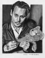Johnny Depp and a Teddybear by shaman-art