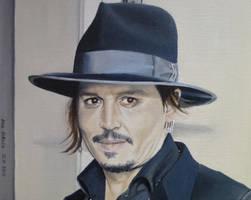 Johnny Depp  - Los Angeles - HFA 2015 by shaman-art