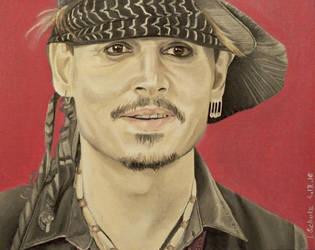 Johnny Depp - Classic Rock Awards by shaman-art