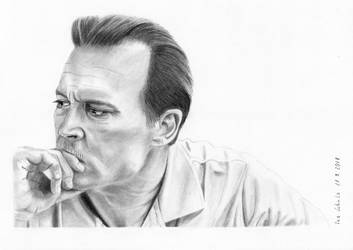 Johnny Depp - City of Lies - Russell Poole by shaman-art