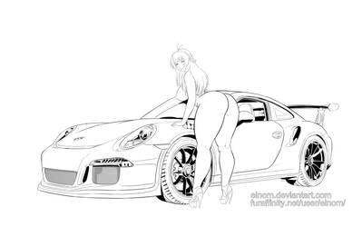 Commission Sawa Sakurai Porsche gt3 rs by Einom