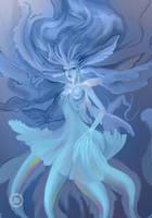 Mystifying Mermaid Queen of Jellyfish WIP by dannykojima
