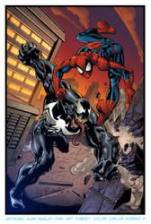 Spiderman vs Venom by CarlosMorenoD-Art