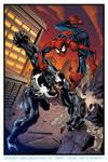 Spiderman vs Venom by CarlosMorenoD-Art