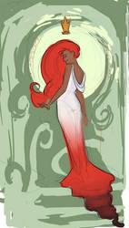 Glinda Nouveau - WIP by sparkyrabbit