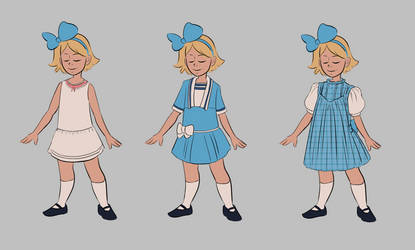 Dorothy Dresses by sparkyrabbit
