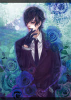 Blue rose by azsan