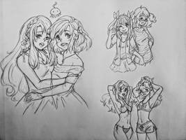 AKB0048 Sketches by GossArt1323