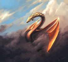 Dragon-speedpaint by JamesCombridge