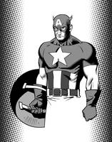 Captain America - old school by PENICKart