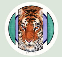 Tiger in the Round 2 by PENICKart