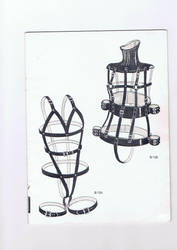 Ladies full restraint harness by LatexHer