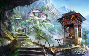 Bhutan temple by lhebrardrobin