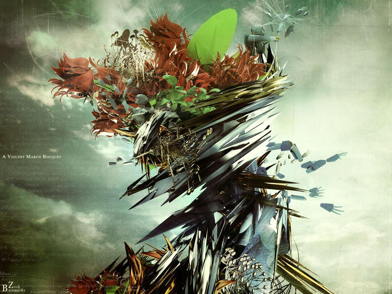 A violent march bouquet by barnaulsky-zeek