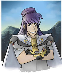 Sydney the Mountain Paladin by TheDelphina