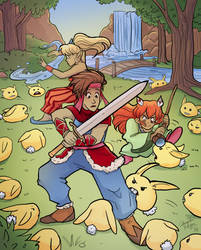 Secret of Mana - Rabbite Forest by TheDelphina