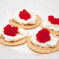 Caviar with Greek Yogurt Cream Cheese by chadrossartwork