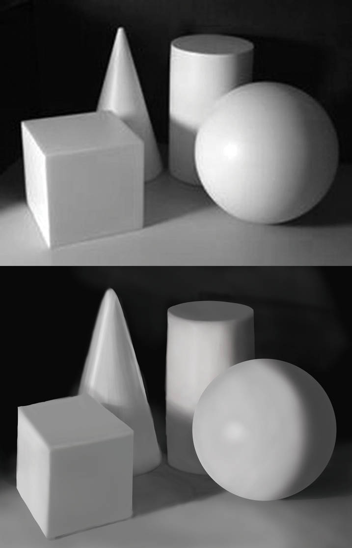 3D Forms - Digital Study 2 by TearsOfColour