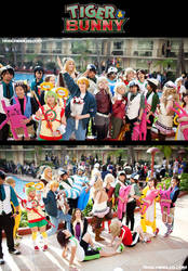 Tiger and Bunny Gathering by Yonejiro