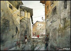 crossing shadows of Firenze by Kegriz