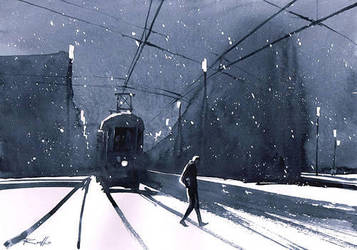 Winter night by Kegriz