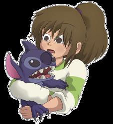 Ogino and Stitch by PhantomGline