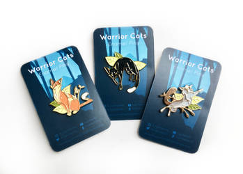Warrior Cats enamel pins by Nightfeather123